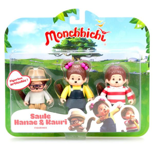 Фигурки Monchhichi: Каури, Ханна, Вилли 3 в 1- 7,5 см
