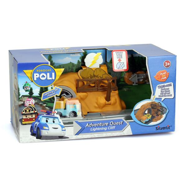 Набор Robocar Poli Пещера с камнями с металлической машинкой Дампи