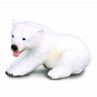 Фигурка Collecta Медвежонок полярного медведя (сидящий),(блист.), S
