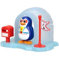Пингвин в домике, синий