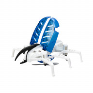 Робот Жук летающий белый с синими крыльями