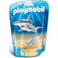 Конструктор Playmobil Аквариум: Молотоголовая акула с детенышем