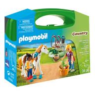 Конструктор Playmobil Возьми с собой: Стрижка лошадей