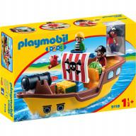 Конструктор Playmobil 1.2.3.: Пиратский корабль