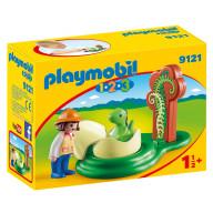 Конструктор Playmobil Девочка и  яйцо динозавра