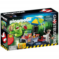 Конструктор Playmobil Охотники за привидениями: Лизун и торговая тележка с хот-догами