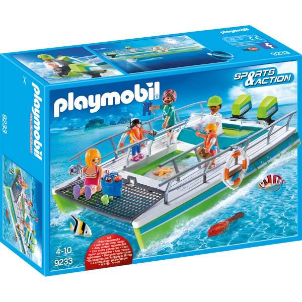 Конструктор Playmobil Промо набор: Лодка со стеклянным дном с подводным двигателем