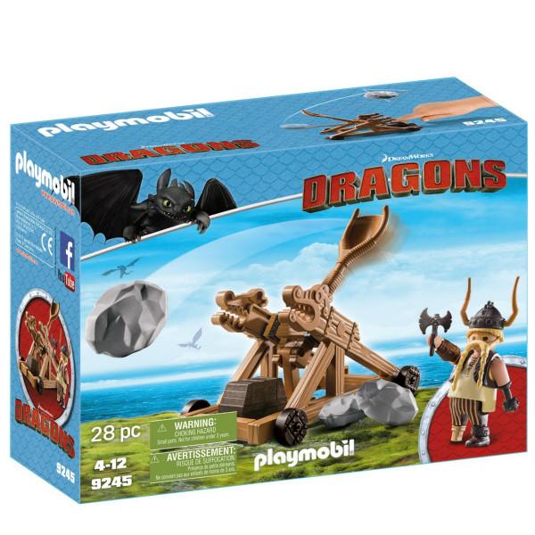 Конструктор Playmobil Драконы: Гоббер с катапультой