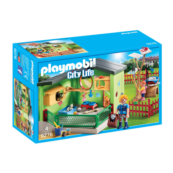 Конструктор Playmobil Отель для животных: Пансион  для кошек