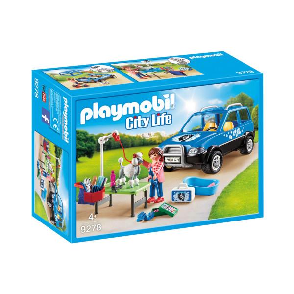 Конструктор Playmobil Отель для животных: Мобильный грумер для животных