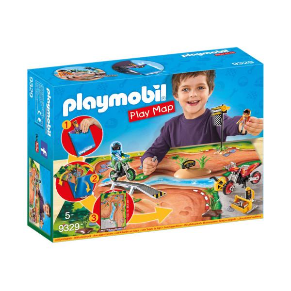 Конструктор Playmobil Игровая карта: Мототрасса