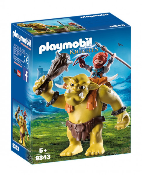 Конструктор Playmobil Гномы: Гигантский тролль с боевым гномом