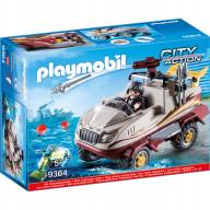 Конструктор Playmobil Полиция: Грузовик-амфибия