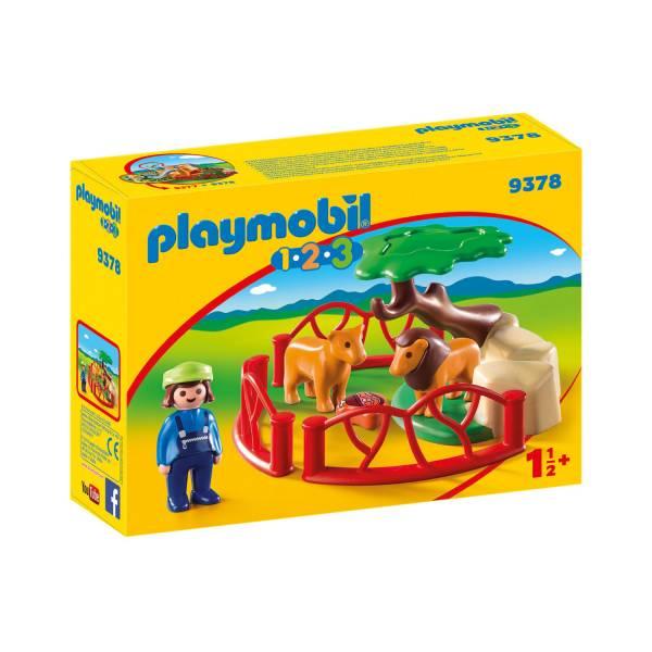 Конструктор Playmobil 1.2.3 Ограждение льва