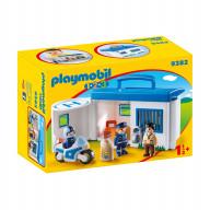 Конструктор Playmobil 1.2.3 Возьми с собой:  Полицейский Участок