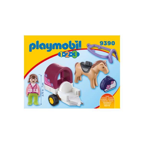 Конструктор Playmobil Промо 1.2.3. Конный экипаж