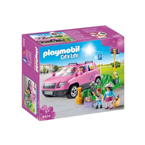 Конструктор Playmobil Шопинг: Семейный автомобиль с парковочным местом
