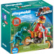 Конструктор Playmobil Динозавры: Гоночный мотоцикл с ящером