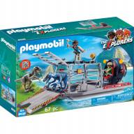 Конструктор Playmobil Динозавры: Вражеское воздушное судно с ящером