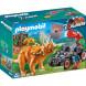 Конструктор Playmobil Динозавры: Вражеский квадроцикл с трицератопсом