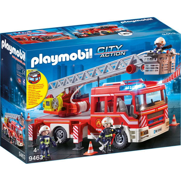 Конструктор Playmobil Пожарная служба: Пожарная машина с лестницей