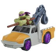 Машинка Черепашки-ниндзя 7 см, Донни на подъемнике