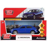 """Машина металлическая """"HONDA ACCORD"""", длина 12см, открываются двери, инерция, цвет синий, Технопарк"""