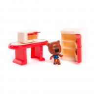 Игровой набор МИ-МИ-МИШКИ Кеша столовая комната 3 детали интерьера