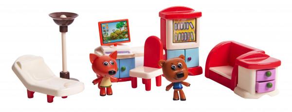 Игровой набор МИ-МИ-МИШКИ, Кеша и  Лисичка, Кухня, 8  деталей.