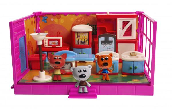 Игровой набор МИ-МИ-МИШКИ,  Кеша, Тучка и Лисичка, Кухня, 12 деталей.