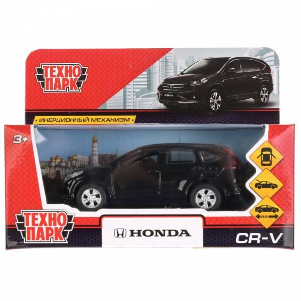 """Машина металлическая """"HONDA CR-V"""" 12см, открываются двери, инерционная, цвет черный. Технопарк"""