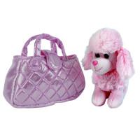 Собака в сумочке пудель розовый 19см MY FRIENDS