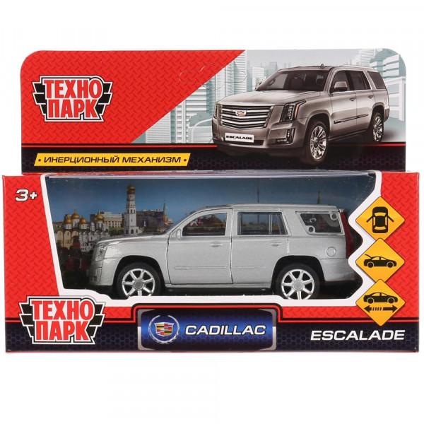 """Машина металлическая """"CADILLAC ESCALADE"""" 12см, открываются двери, инерция, серебристый цвет, Технопарк"""