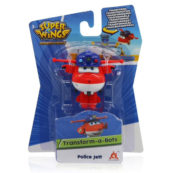Мини-трансформер Super Wings Джетт (команда Полиции)