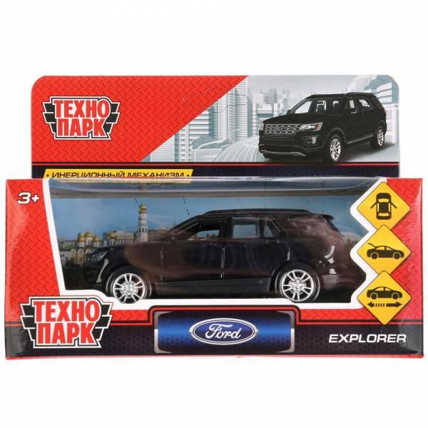 """Машина металлическая """"FORD EXPLORER"""" 12см, открываются двери, инерционная, черный, Технопарк"""