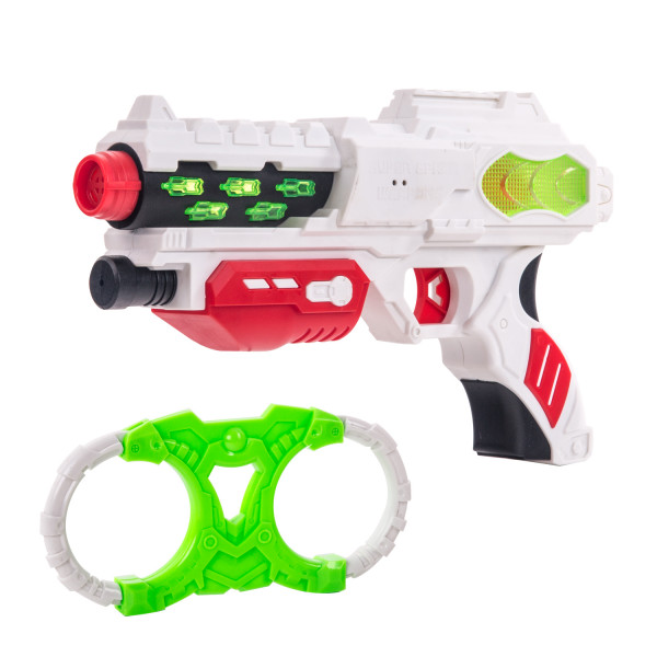 Набор бластер наручники звук свет  Fun Red