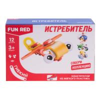 """Конструктор гибкий """"Истребитель Fun Red"""", 12 деталей"""