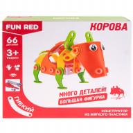 """Конструктор гибкий """"Корова Fun Red"""", 66 деталей"""