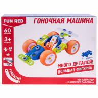 """Конструктор гибкий """"Гоночная машина Fun Red"""", 60 деталей"""