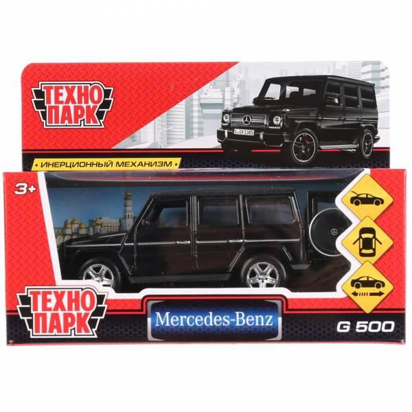 """Машина металлическая """"MERCEDES-BENZ G-CLASS"""" 12см, открываются двери, инерционная, черный,Технопарк"""