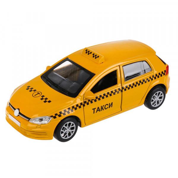 """Машина металл """"ТАКСИ"""", длина 12см, открыв. двери и багажник, инерц. в кор. Технопарк"""