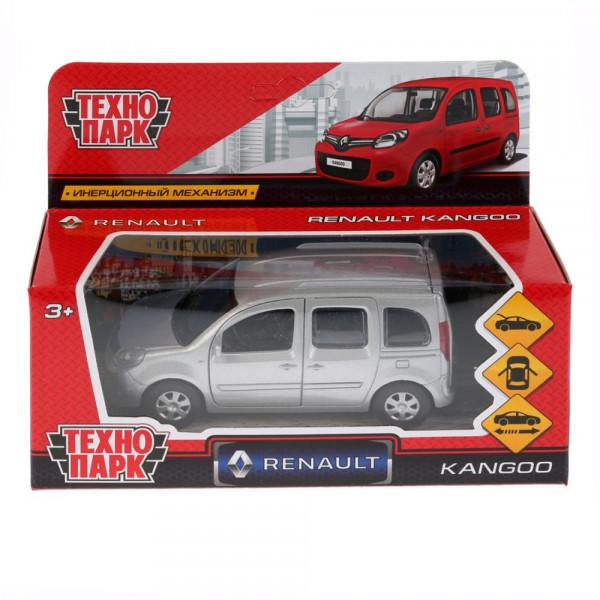 """ТМ Технопарк. Машина металлическая """"RENAULT KANGOO"""" 12см, открываются двери, инерция, СЕРЕБРЯННЫЙ."""