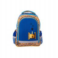 Рюкзак школьный с пикси-дотами (синий)
