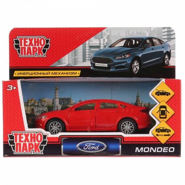 Машина металлическая FORD MONDEO, длина 12 см, инерционная, красная, Технопарк