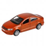 """Машина металл """"СЕДАН"""", длина 12 см, открываются двери и багажник, инерционная, коричневыйТехнопарк"""