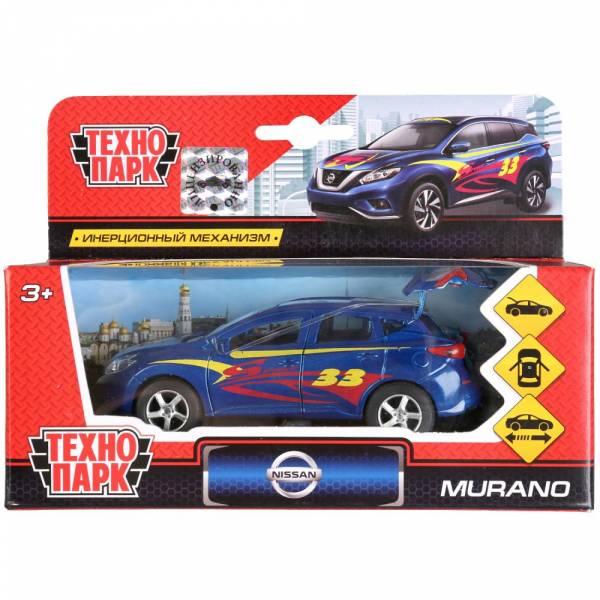 Машина металлическая Nissan Murano 12см, открываются двери и багажник, инерционная, Технопарк