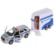 Машина металл Kia Sorento Prime 12см, инерц. + фургон с лошадью в кор. Технопарк