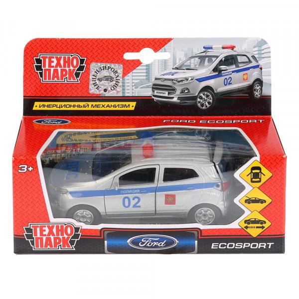 Машина металлическая FORD Ecosport полиция 12см, открываются двери, инерционная,Технопарк.