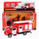Машина металлическая ГАЗ Газон NEXT пожарная машина 14,5см, инерционная, Технопарк