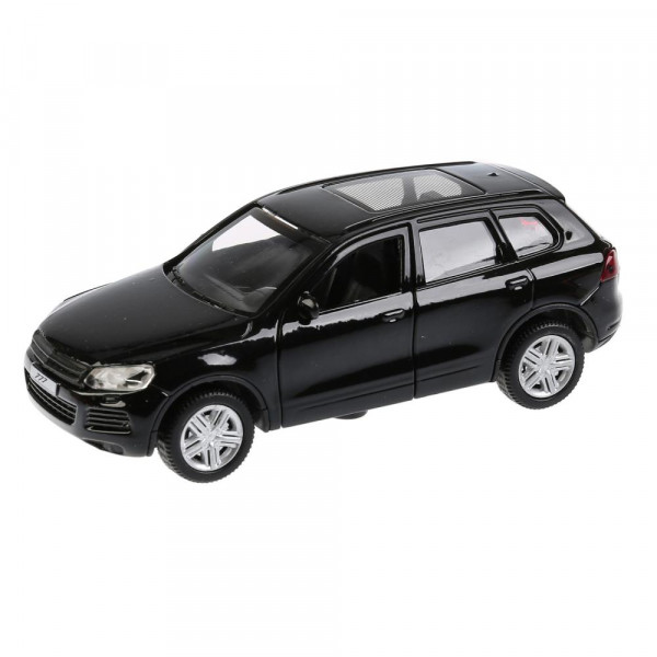 """ТМ Технопарк. Машина металлическая """"VW TOUAREG"""" 12см, открываются двери, инерционная, ЧЕРНЫЙ."""